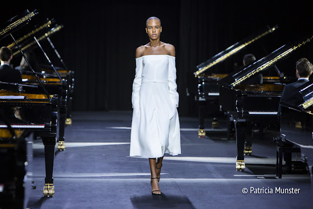 White dress by David Laport SS2019 - AFW2018