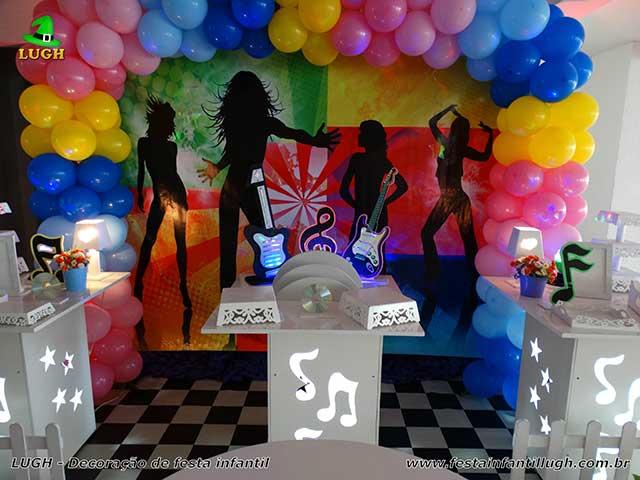 Discoteca - tema de aniversário para mesa infantil