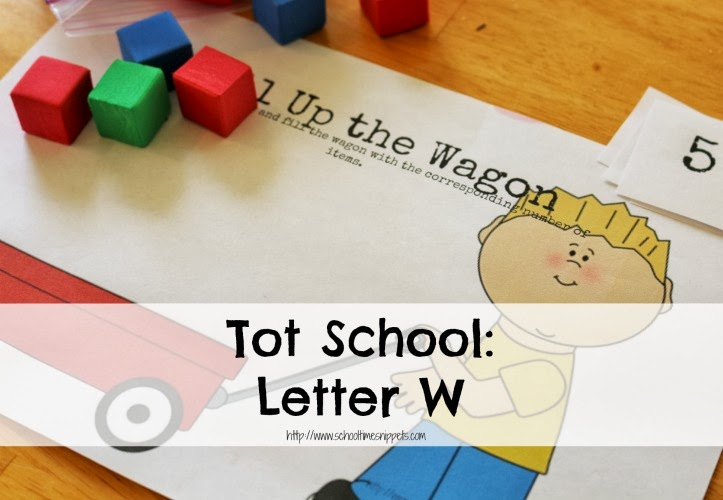Tot School Letter W activities and printables