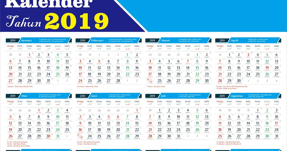 Baru 49+ Free Download Desain Kalender 2020 Cdr