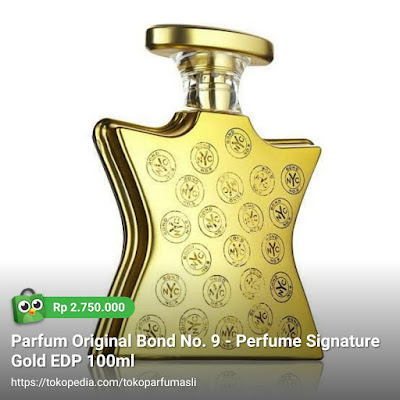 toko parfum asli parfum original parfum original bond no. 9 perfume signature gold edp 100ml woman