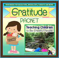 A gratitude teaching packet with printables, worksheets, activities and posters