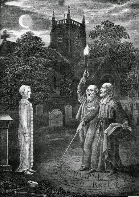 John Dee (1527-1608), известный математик, философ и астролог Королевы  Элизабет, держит факел, в то время как искусный некромант консультируется с  духом 0662d0a8c13