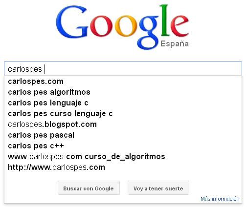 funcion autocompletar de google