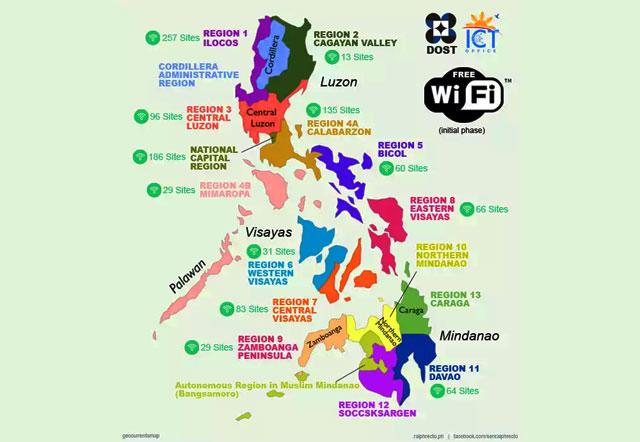 Nationwide hotspots Philippines
