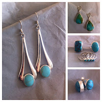 Just a small selection of our Turquoise Earrings and Rings!