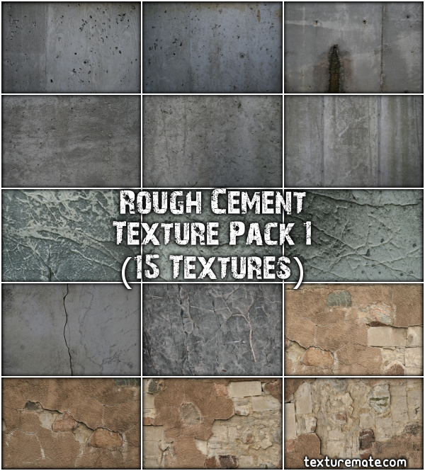 Free Texture Pack for Commercial Use - Rough Cement 1