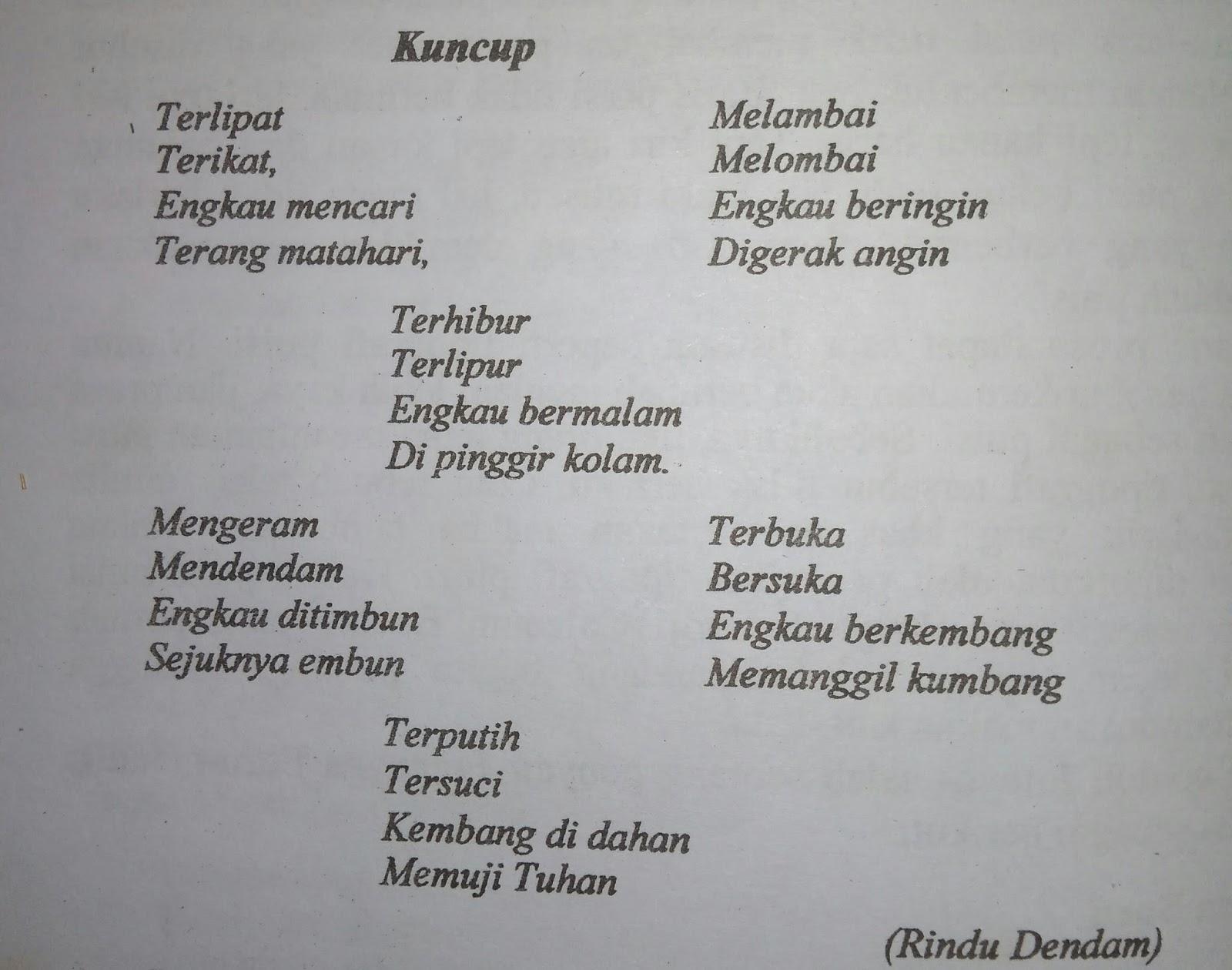 """puisi """"Kuncup"""", J. E. Tatengkeng"""