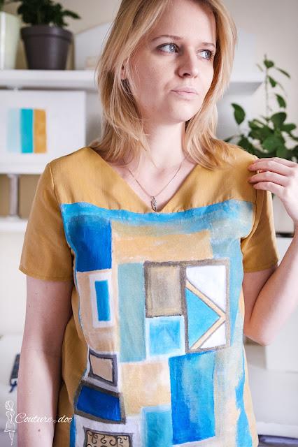 malowana bluzka, obraz