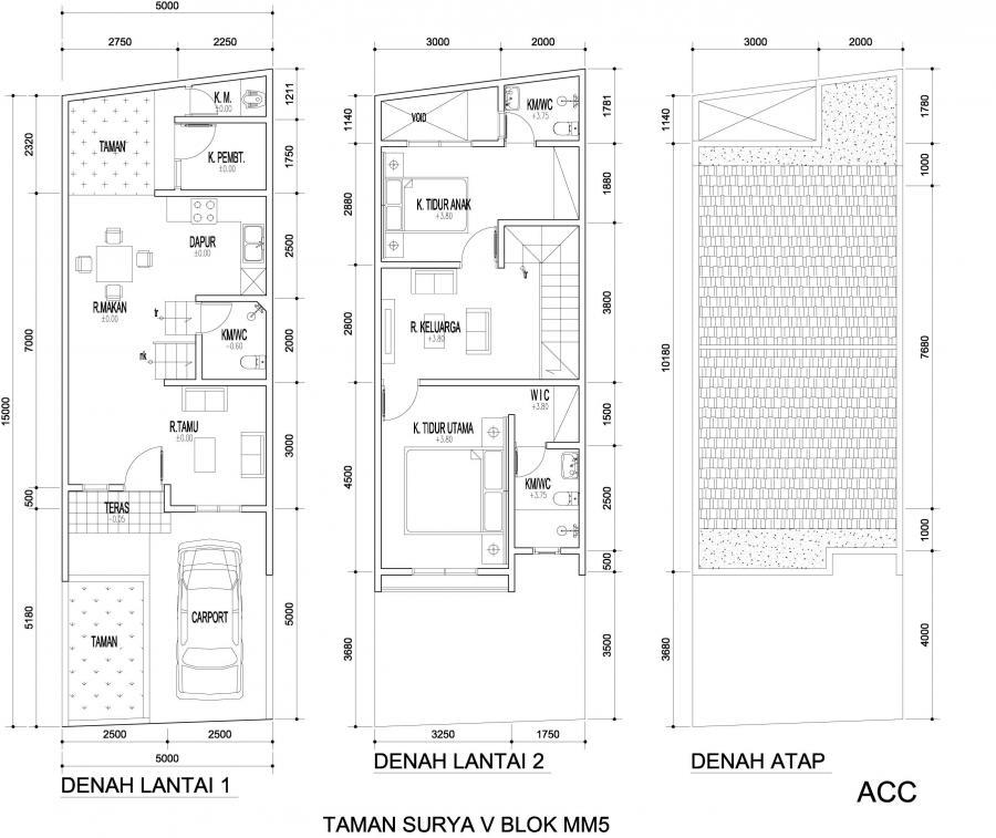 rumah kontrakan lantai 2 dengan lantai 1 dijadikan rumah