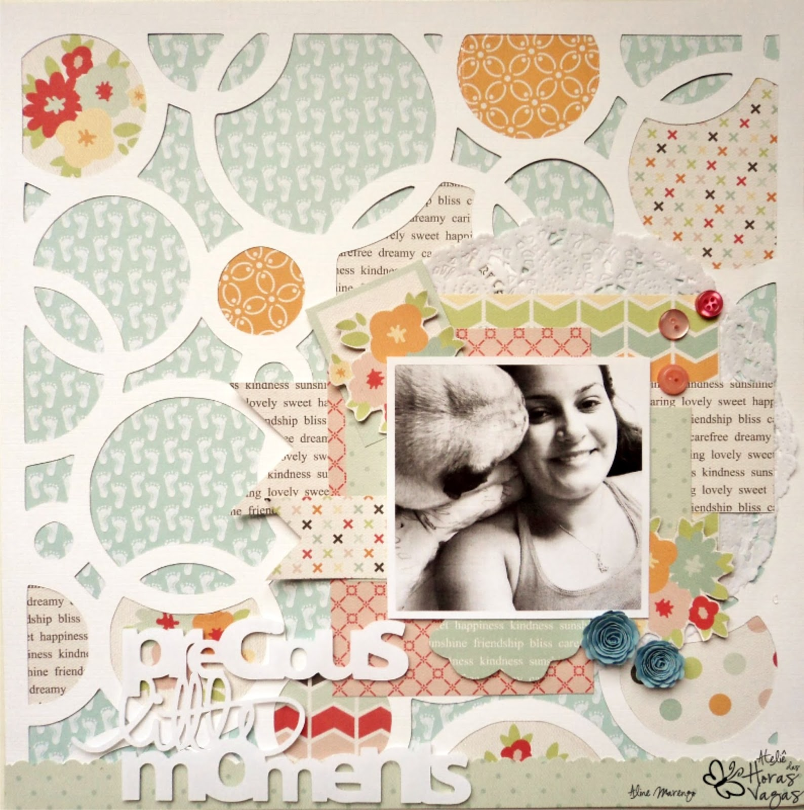 Scrapbooking Scrap scrapbook LO layout echo park sweet days