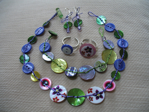 handmade button jewelry  origami instructions art and