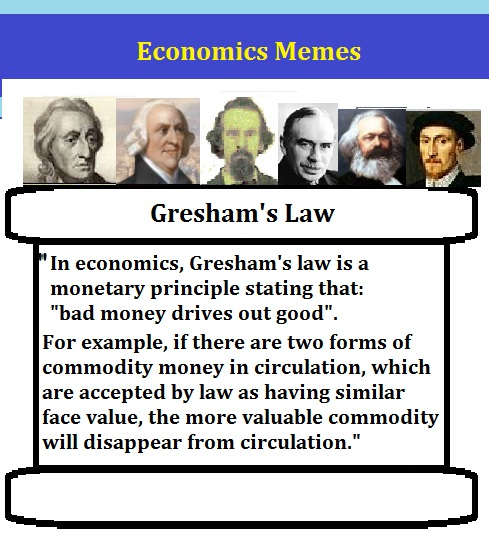 HoltesThoughts: Gresham's law as a Tool of Regulation