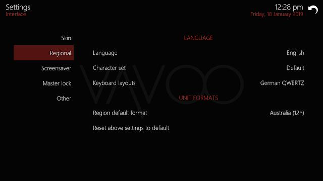 Como mudar a Lingua no VAVOO