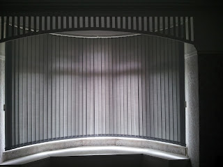 Curved vertical window blinds Plymouth