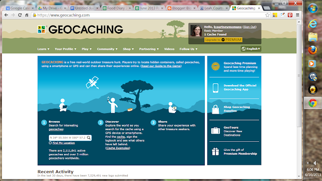 Geocaching.com site