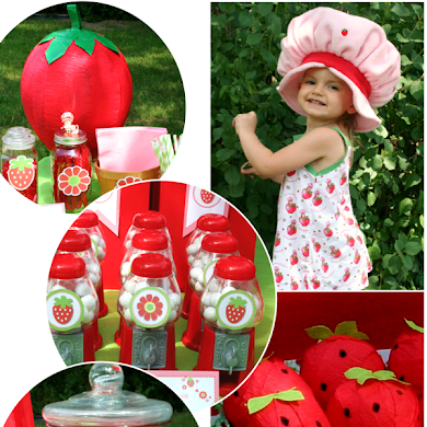 DIY Strawberry Shortcake Birthday Party Ideas