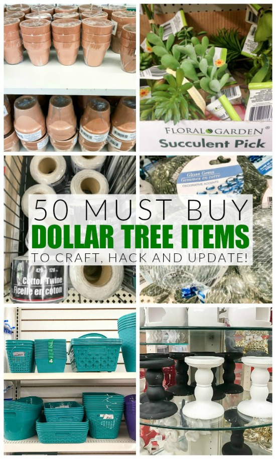 Must buy Dollar Tree items to craft, hack and update