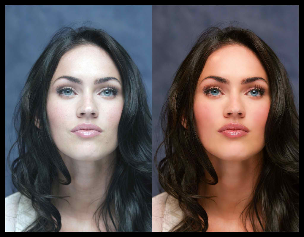 stars before & after botox: megan fox - before and after photoshop