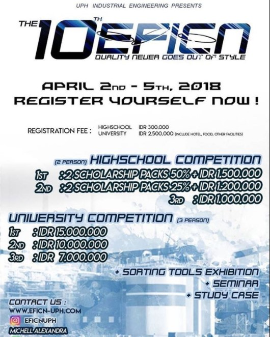 Engineering Festival dan Competition The 10th EFICN 2018 Univ. Pelita Harapan