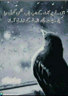 Is Nay Per Kaat K Jab Bab Kufs Khool Diya..  Yaad Be-had Mujhe Urnay K Zamane Ayee..!!   #urdushayari #heartless #Poetry