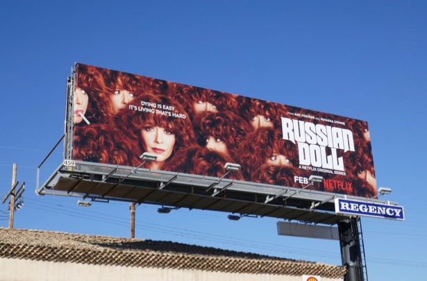 Russian Doll series launch billboard