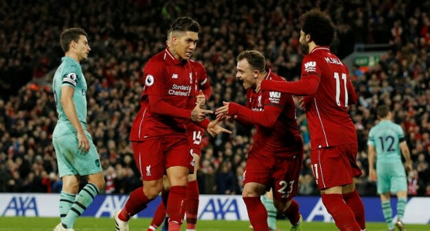 Cuplikan pertandingan Liverpool vs Arsenal 2018