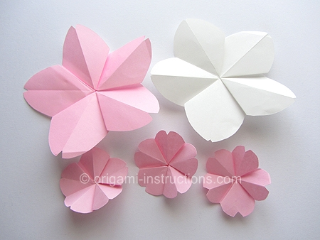 Origami-Instructions.com: Easy Origami Cherry Blossom - photo#4