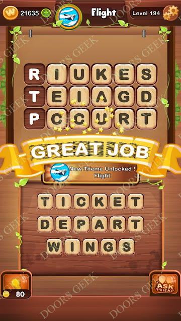 Word Bright Level 194 Answers, Cheats, Solutions, Walkthrough for android, iphone, ipad and ipod