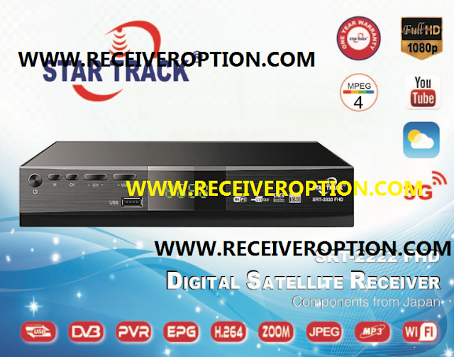 STAR TRACK SRT-2222 FHD RECEIVER AUTO ROLL POWERVU KEY NEW SOFTWARE