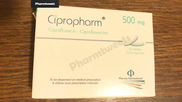 دواء سيبروفارم Cipropharm ومادته الفعالة سيبروفلوكساسين Ciprofloxacin