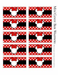 Envoltorios Golosinas de Minnie en Rojo , Negro y Lunares.