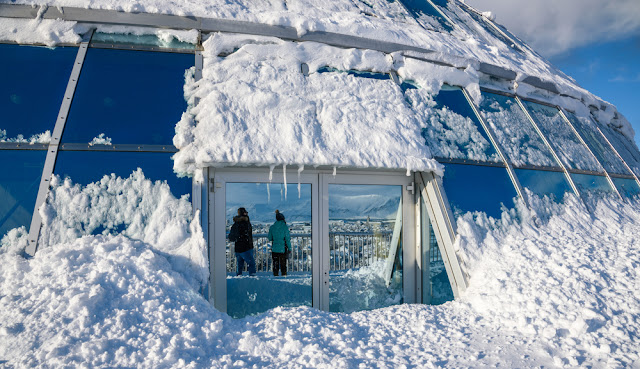 When the snowstorm clears, head to Perlan Observatory for amazing views