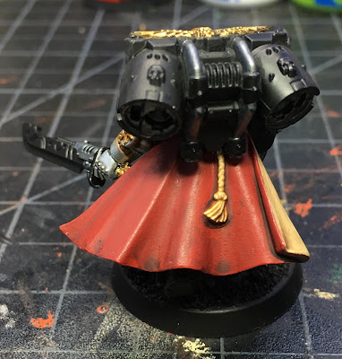 Deathwatch Watch Captain with Jump Pack WIP - back
