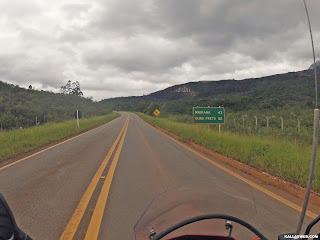 Poucos km para chegar em Mariana/MG.