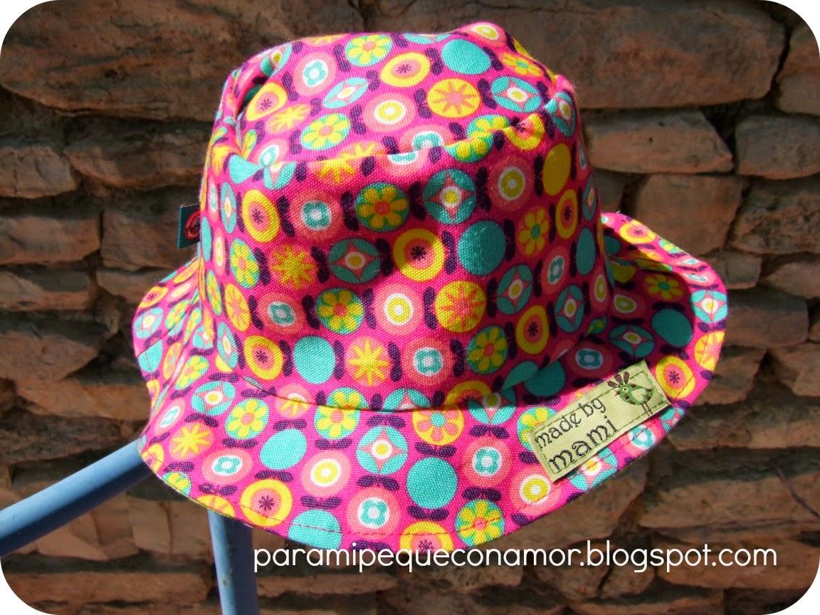 Para mi peque con amor  Sombrero para bebé (referencia a patrón ... aea23a06a086