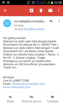 konfirmasi hadiah mr ceban