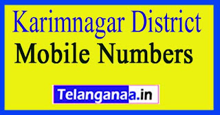 ZPTC Member | Vice-President Mobile Numbers List Karimnagar District in Telangana State