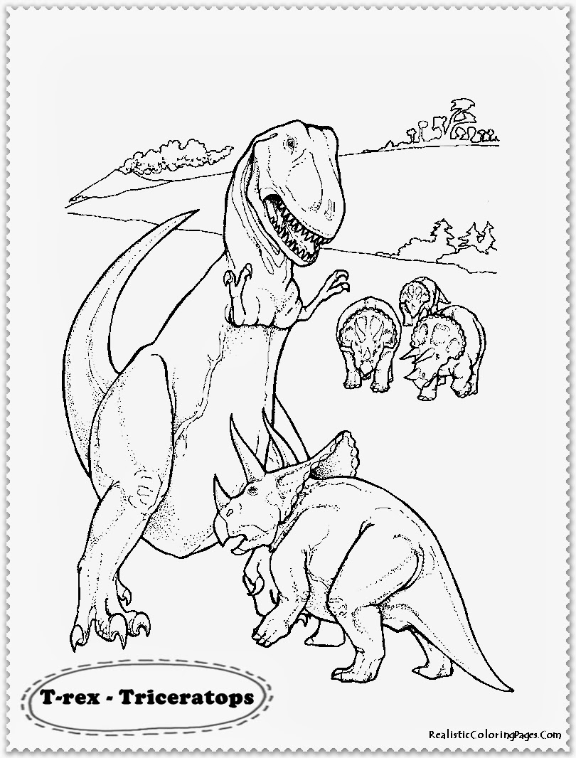 Realistic Dinosaur Coloring Pages on coloring pages for mothers day cards