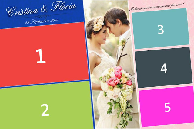 Free Wedding photo booth template 5 poses