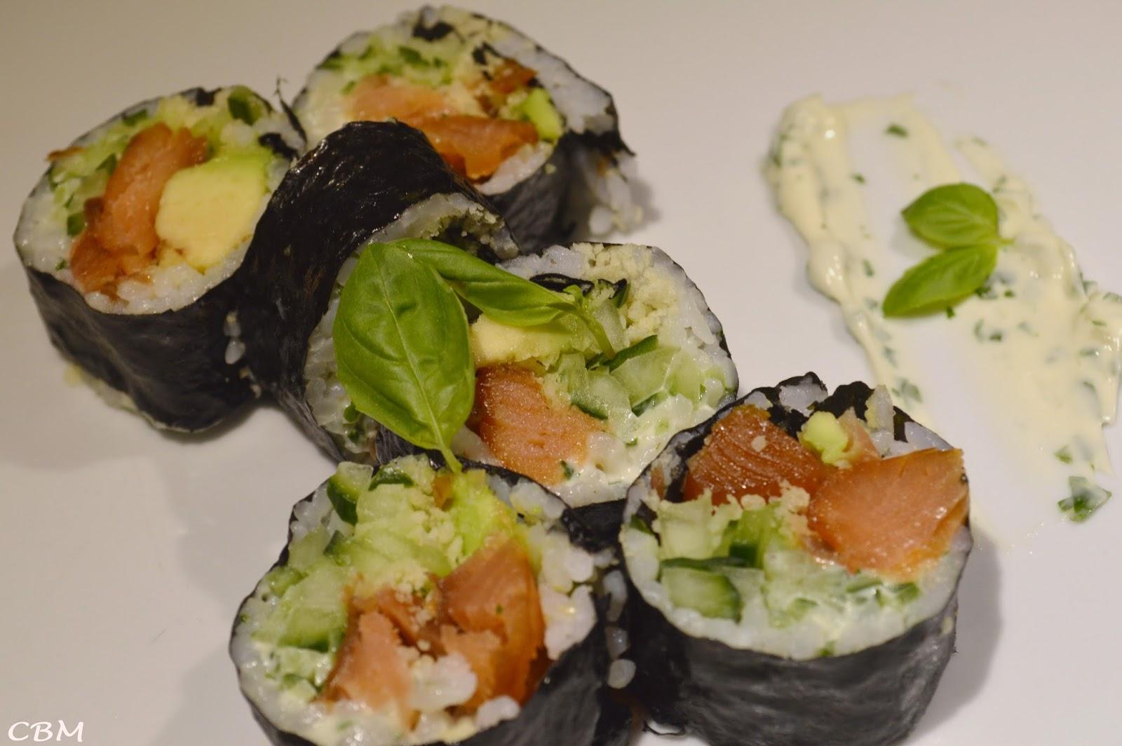 Dans La Cuisine De Blanc Manger Maki Aux Pépites De Saumon