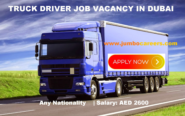Truck Driver Salary >> Urgent Vacancy For Uae Experienced Truck Driver Salary Aed 2600