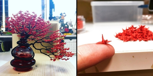 00-Naoki-Onogawa-Tiny-Miniature-Bonsai-Trees-and-Miniature-Origami-Leafs-www-designstack-co