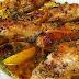 صينية الدجاج بالليمون والثوم