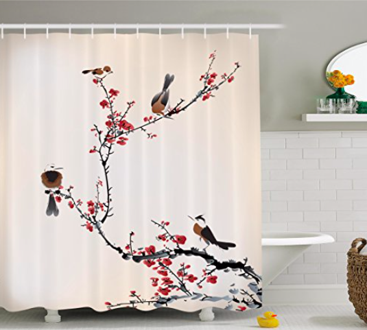 Lem's Levity: shower curtain