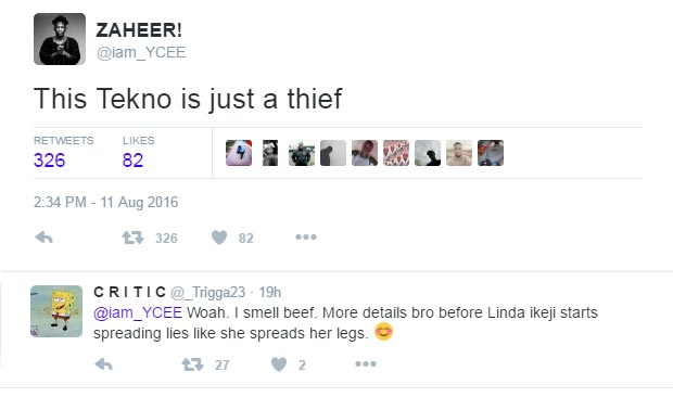 Time for beef? Ycee calls Tekno a thief on Twitter