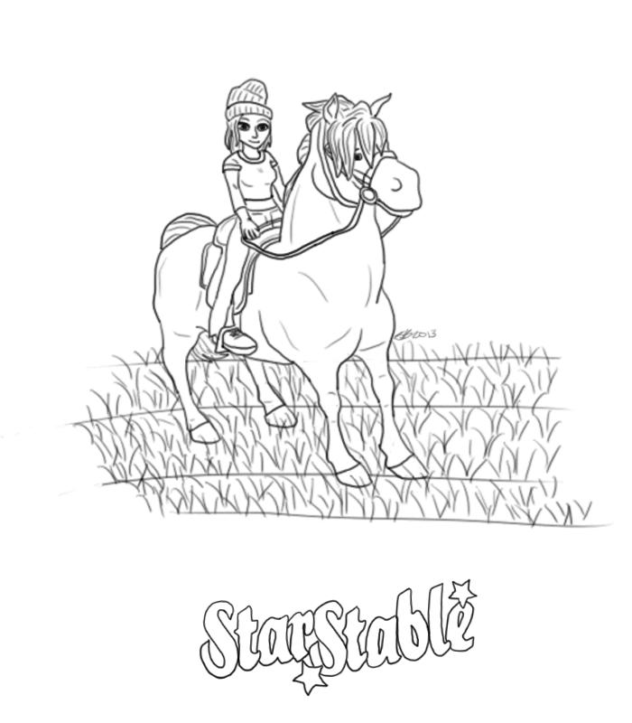 Online Kleurplaten Paarden Star Stable Online Mel Kolorowanki