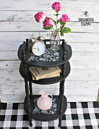 Table Upcycle with Dixie Belle Paint in Caviar