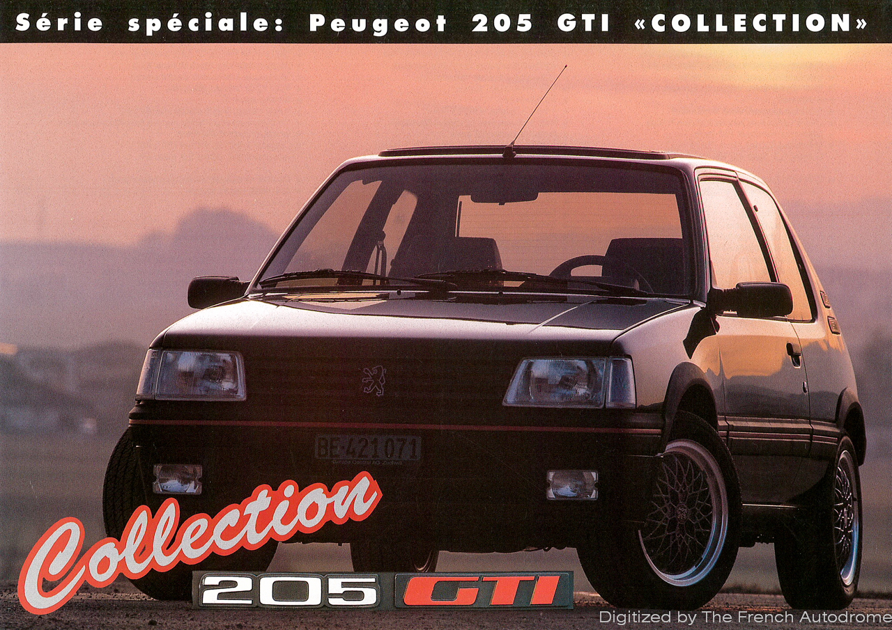 the french autodrome 205 gti s ries sp ciales. Black Bedroom Furniture Sets. Home Design Ideas