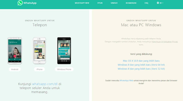 website resmi whatsapp (official)